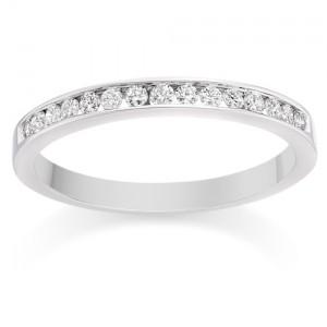 Channel Set Diamond Wedding Ring in Platinum