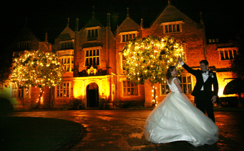 Great Fosters Bride and Groom outside venue