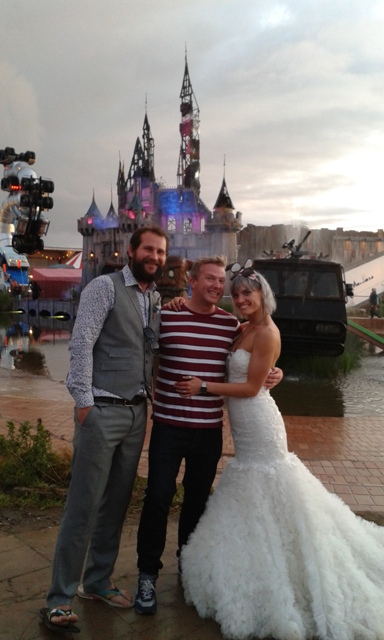 First Dismaland wedding couple