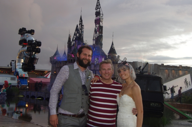 Dismaland wedding couple