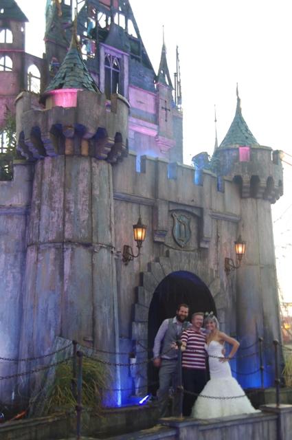 Outside the Dismaland castle
