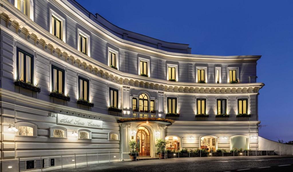 Hotel Santa Caterina nightime